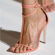 High Quality Pink T-bar Ankle Strap Women Sandals Peep Toe Cut-out T-Strap Banquet Dress Shoes Ladies Gladiator Sandals Womens цена 2017