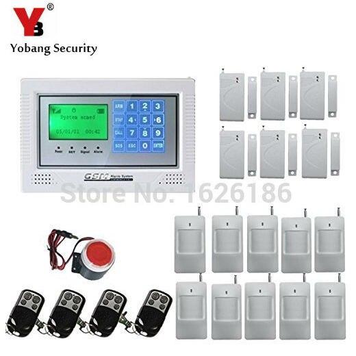 YobangSecurity Intruder Alarm System GSM Home Security System Burglar Alarm Kit Home House Intruder Alarm Siren PIR Motion passive intruder