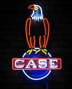 Custom Case Eagle Glass Neon Light Sign Beer Bar