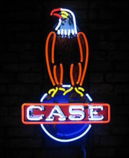 Custom Case Eagle Glass Neon Light Sign Beer Bar