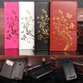 De alta qualidade para xiaomi redmi 3 s case com slot carteira de couro da aleta case capa do telefone flores douradas para redmi 3 pro/3 s