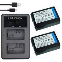 2x 2000mAh NP FW50 NP FW50 Camera Battery + LED USB Dual Charger for Sony Alpha a6500 a6300 a6000 a5000 a3000 NEX 3 a7R Camera