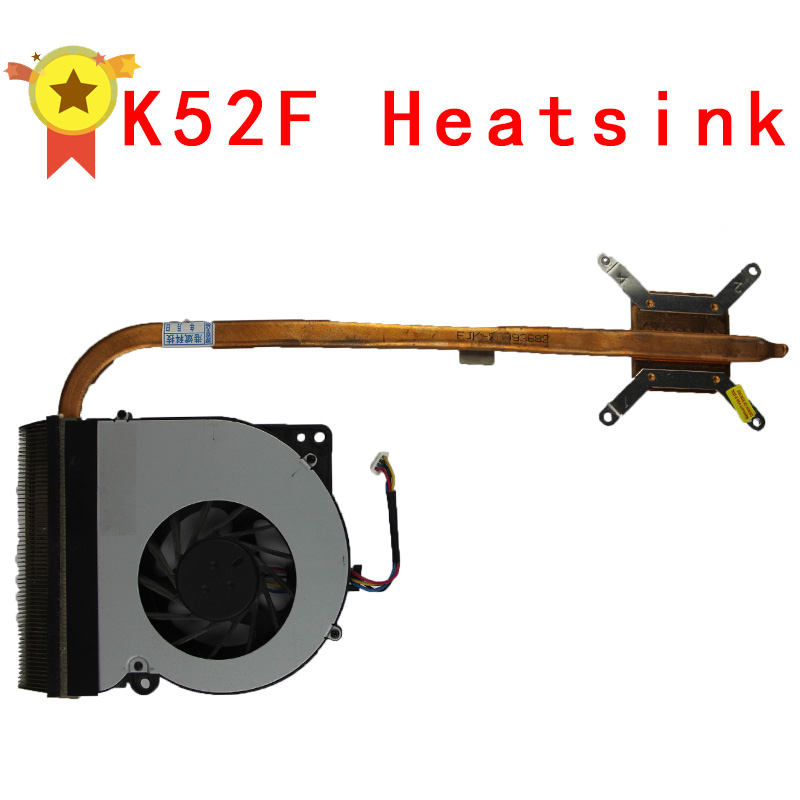 Original For asus laptop heatsink cooling fan cpu cooler K52 K52F A52F CPU heatsink Fan+brass radiator computer processor radiator blower heatsink cooler fan for asus u24g u24e b23e laptop cpu cooling