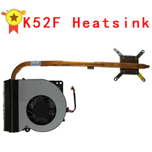 Original For asus laptop heatsink cooling fan cpu cooler K52 K52F A52F CPU heatsink Fan+brass radiator