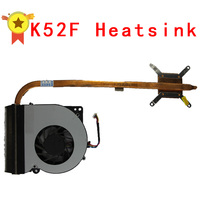 Original For Asus Laptop Heatsink Cooling Fan Cpu Cooler K52 K52F A52F CPU Heatsink Fan Brass