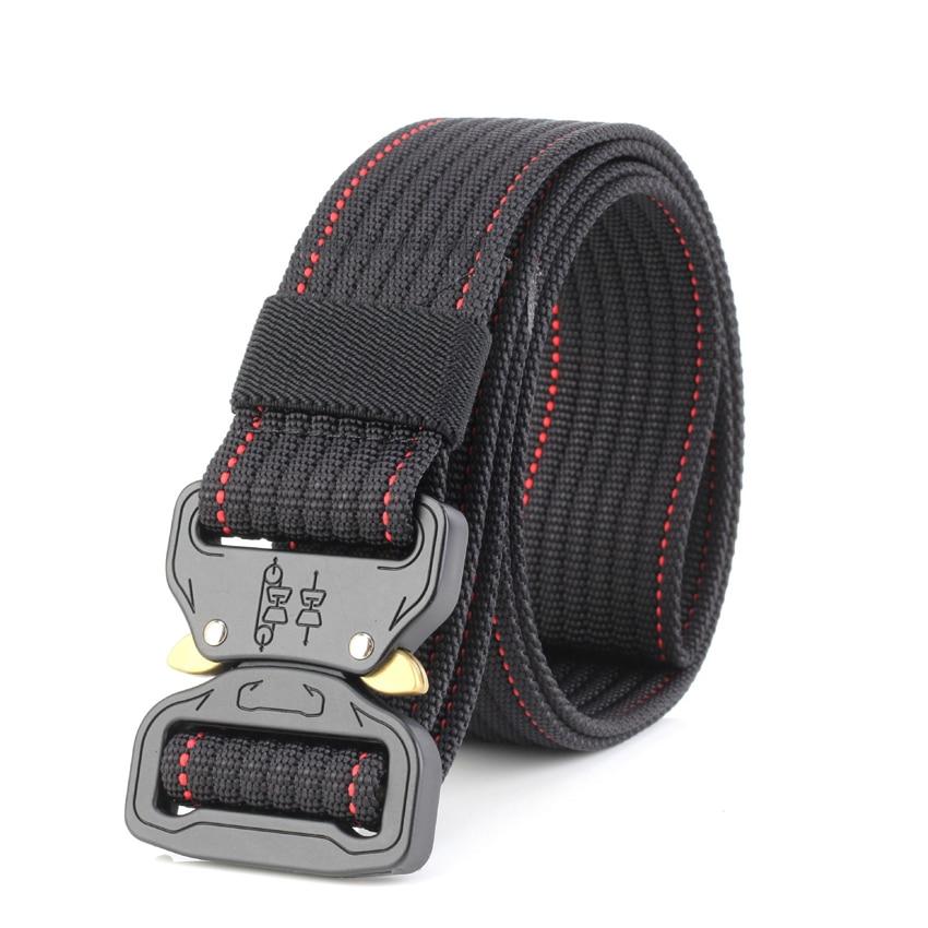 10 Colors Military Equipment Solid Belt Men Tactical Designer Belts For Jeans Pants Nylon Strap Canvas Metal Buckle Waist Belt