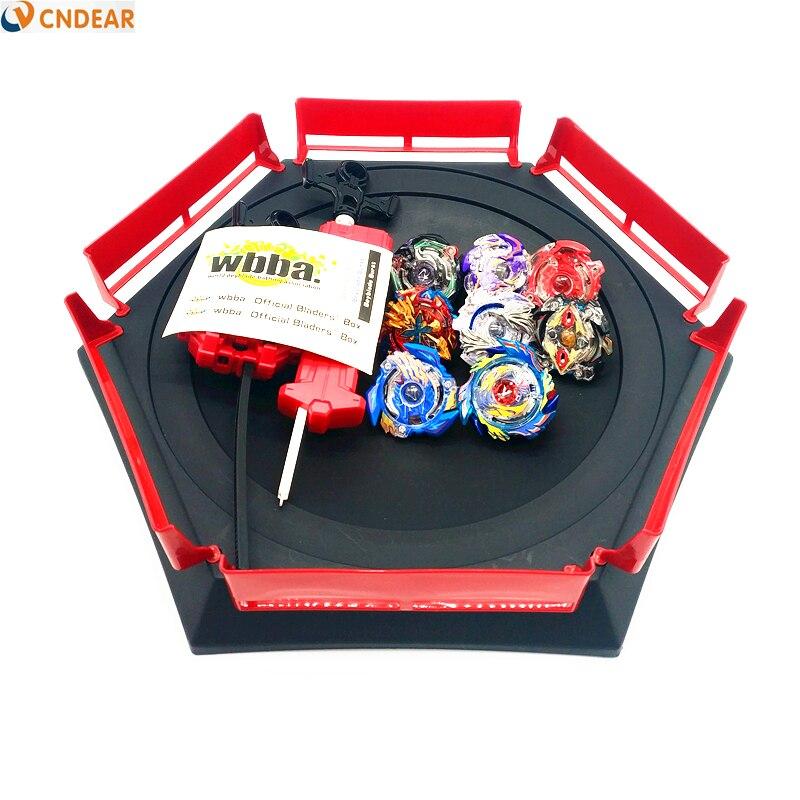 Beyblade jouets d'éclatement avec démarreur de lanceur et jouet d'arène métal Fusion dieu filature Top lame jouets Arena001
