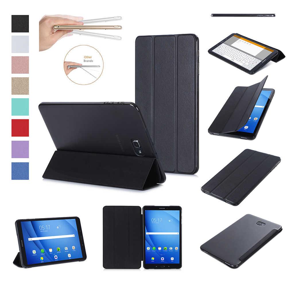 Xnyocn для samsung Galaxy Tab 10 1 T580/T585 (2016) tri fold Стенд кожаный чехол A крышки|Чехлы планшетов и