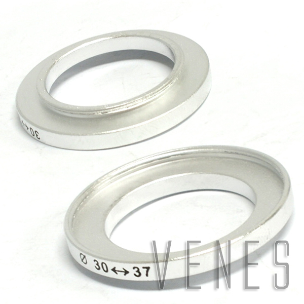 30mm-37mm Step up Ring Filter Adapter / 30mm Lens to 37mm Accessory silver