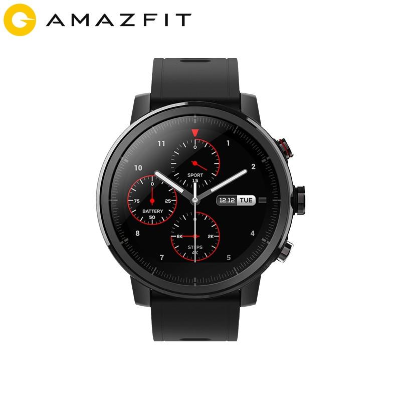 2019 nuevo Amazfit Stratos + reloj inteligente insignia correa de cuero genuino caja de regalo zafiro 2S - 3