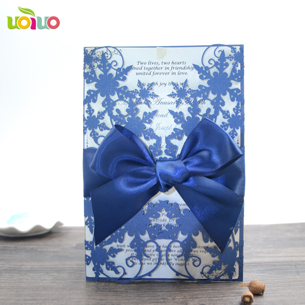 Buy royal blue wedding invitations and get free shipping on ...