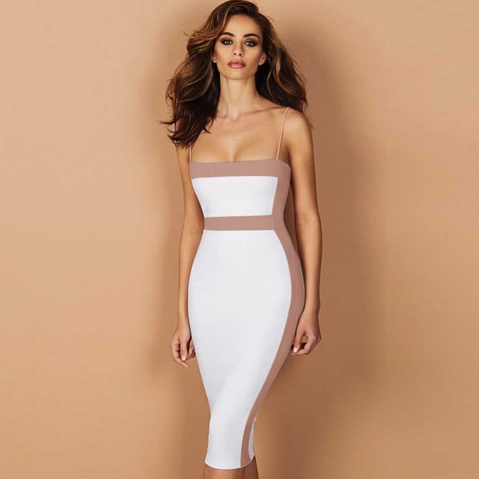 Seamyla сексуальное Бандажное платье Для женщин 2019 новое платье без рукавов в стиле знаменитостей вечерние элегантное облегающее платье Клубные платья, летнее платье, Vestidos