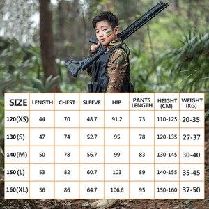 Image 3 - Mege uniforme militar para niños, traje de combate multicámara de las Fuerzas Especiales del Ejército, Multicam, Airsoft, equipo de Paintball CS