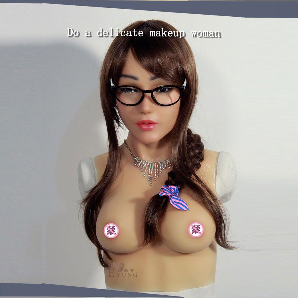 Transgender Silicone Female Mask Masquerade Transsexual -7767