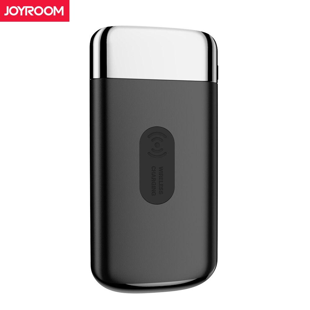 Joyroom Qi cargador inalámbrico banco de energía 10000 mAh Portable USB Dual con pantalla Digital batería externa Powerbank para iphone X 8
