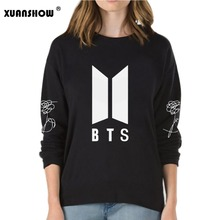 XUANSHOW 2018 New BTS Bangtan Boys Kpop Album Love Yourself Answer Fans Clothing Casual Letters Printed Pullover Tops