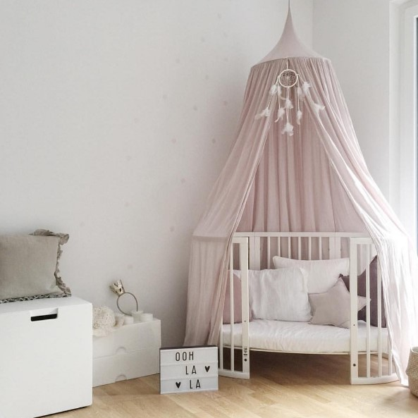 new Palace Style Cotton Children's Room Bed Mantle Bed Nets Dome Tent Lotus Four-color Games Infants Sleep Bedside Crib Netting baby bed curtain kamimi children room decoration crib netting baby tent cotton hung dome baby mosquito net photography props