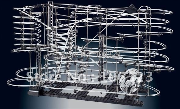 New! Toy Roller Coaster, Space Rail Level 9, rail Warp Drive, Help for Imagination,EQ,Creation,Science,Physical,Mechanical