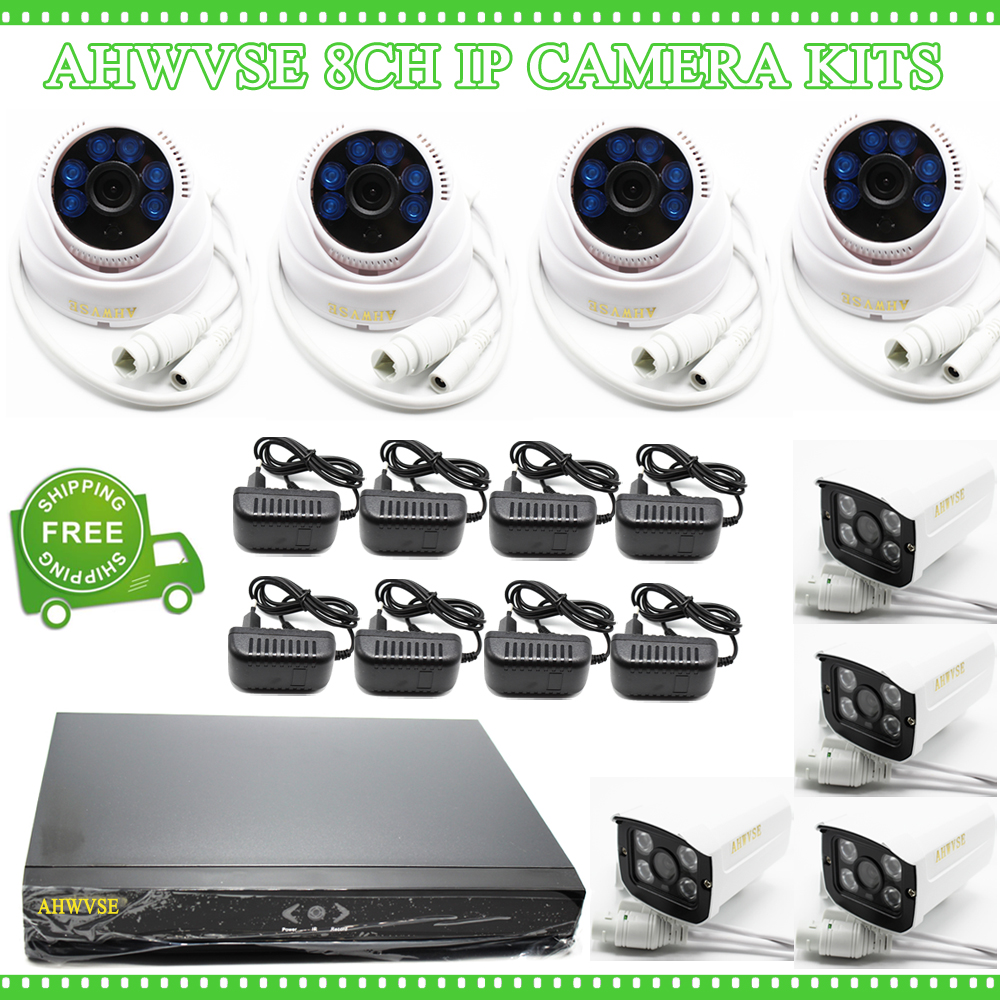 AHWVSE 8CH 1080P NVR CCTV System 2MP Outdoor IP66 IP Camera P2P Home Security Surveillance Kit
