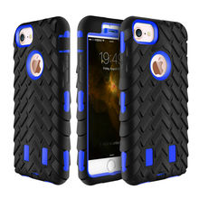 for Apple iPhone 6 6S [3D Tyre Robot] 360 All-Round Protection Armor Drop Protection PC + TPU Hybrid Cell Phone Back Case Cover