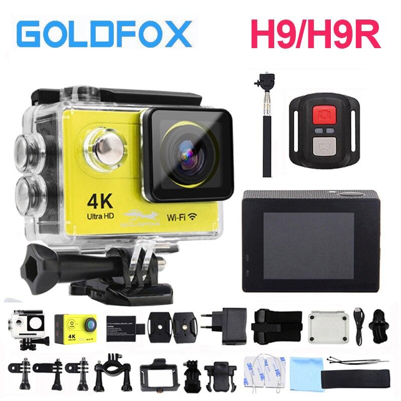 Goldfox H9/H9R WiFi Camera Action 30 m Étanche Ultra 4 k 1080 p HD Sport DV Vidéo Cam vélo Casque De Vélo Sport Caméra Cam