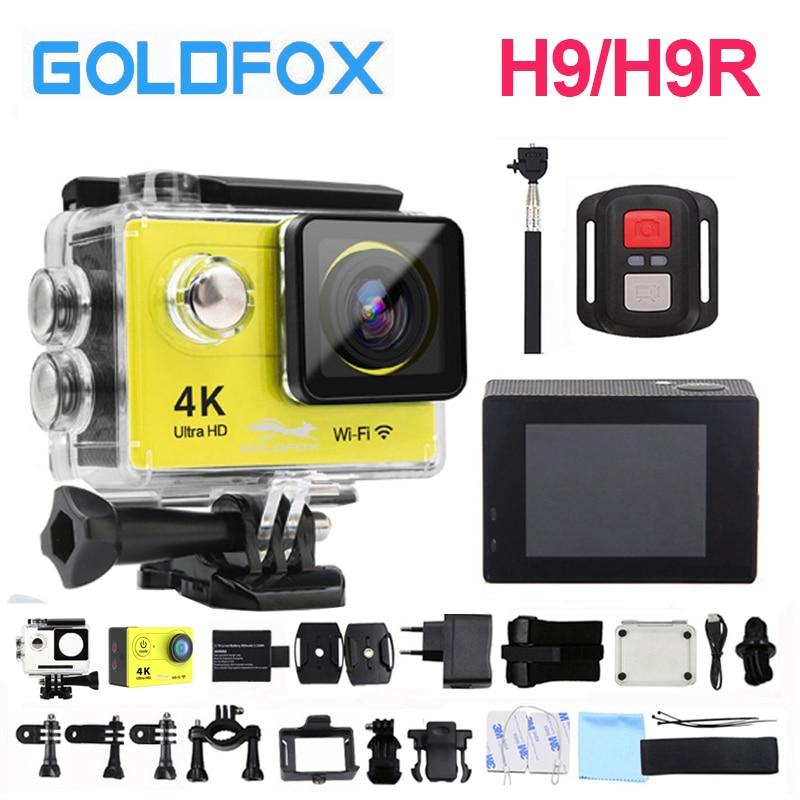 Goldfox H9/H9R WiFi Action Camera 30 M Impermeabile Ultra 4 K 1080 P HD DV Sport Video Cam Bike Casco Della Bicicletta Macchina Fotografica di Sport Cam