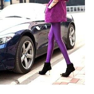 Image 4 - CoolCheer брендовые пикантные однотонные яркие неоновые женские леггинсы растягивающиеся Джеггинсы одежда для фитнеса