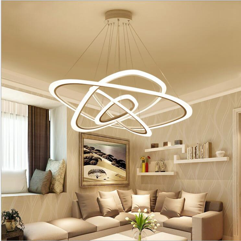 LukLoy Large Ring Acryl Pendant Lights LED Kitchen Lights Hanging Lamp Ceiling Lamps Bedroom Living Room Lighting Fixtures lukloy wood ring pendant lights led kitchen lights led lamp hanging lamp ceiling lamps dining room lighting bedroom living room