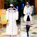 Woman Winter Coat Women 2017 New Fashion Long Hooded Thin Winter Jacket Women Multicolor Plus Size Silm Wadded Jacket Outerwear