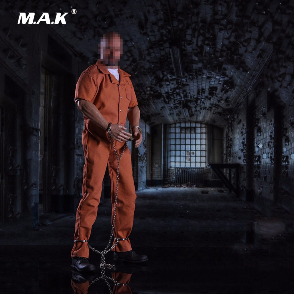 1/6 Scale Luke Hobbs Male Prisoner Clothing Set for 12 Inches Body Figure Accessory-in Action & Toy Figures from Toys & Hobbies    1
