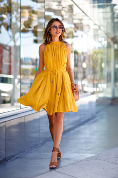 2018 summer pocket Sleeveless Pleated dress women casual fashion Bandage Sashes Beach party Bohemian woman dresses Yellow dress
