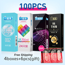 Ultra-thin 0.034mm Rubber latex condoms 10pcs Thin as invisible nourish Lubricating Male Moisturizing sex products