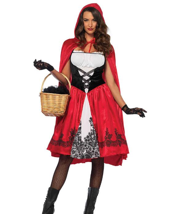 New Little Red Riding Hood Costume Queen Dress Halloween Cosplay Uniform  Adult Cosplay Costume party XXXL 6bce6861bd6f