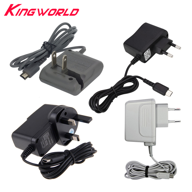High quality US EU UK Plug Charger Cable AC Adapter Power Supply for Nintendo NDSL for NDS Lite Console
