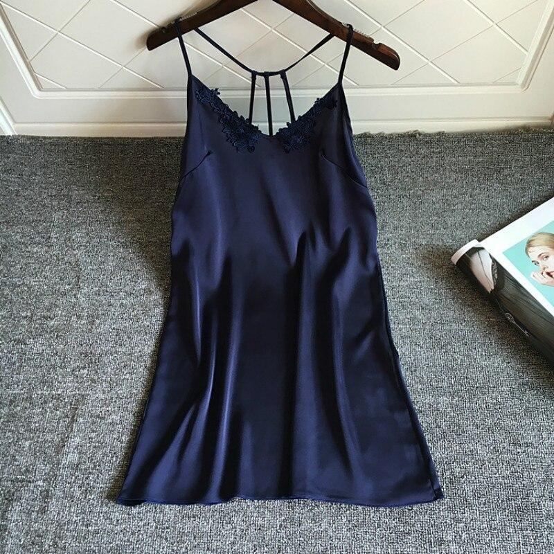 Backless Sleep Lounge Nightgowns Sleepshirt Nightgowns Women Lace Nightdress Sexy Lingerie Spaghetti Strap Nightwear