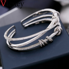 Vicney New design Fashion temperament bracelet jewelry AAA Zircon Crystal bangles bracelets for women daily gifts high quality(China)
