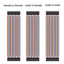 Dupont-cable de puente macho a macho, 10cm, 20cm, 30cm, hembra a hembra, cable Dupont