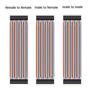 Dupont линия 10 см 20 см 30 см от мужчины к мужчине от мужчины к женскому и от женского к женскому соединительный провод Dupont кабель
