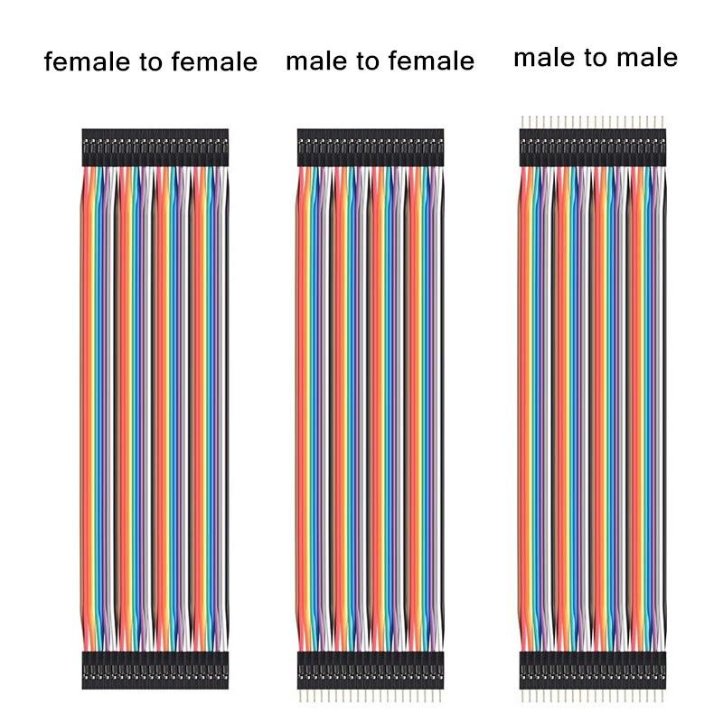 Linea di du pont 10 centimetri 20 centimetri 30 centimetri maschio a maschio maschio a femmina e femmina a femmina ponticello cavo Dupont