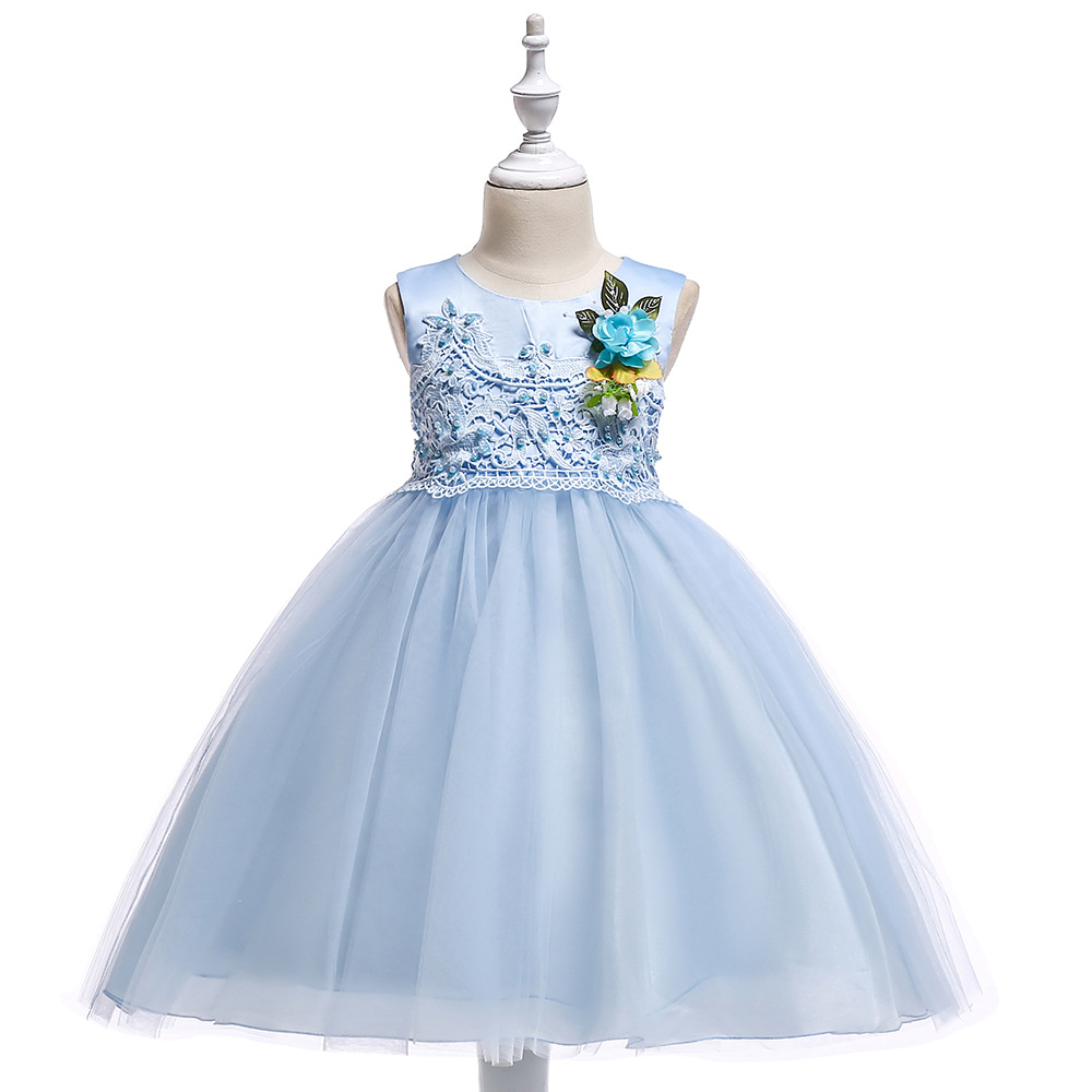 Cute Ball Gown Lace   Flower     Girl     Dresses   Sleeveless O-Neck   Girls   Kids Evening Gowns First Communion   Dresses   2018