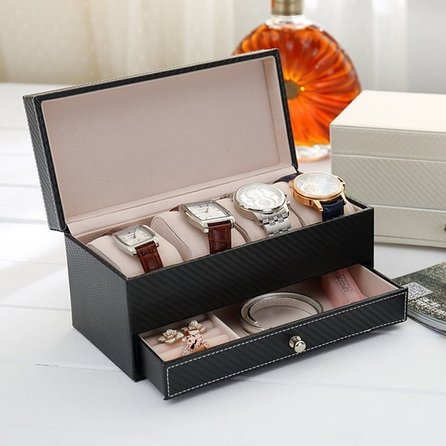 Aliexpresscom Buy 2 Color PU Leather Watch Display Box Jewelry