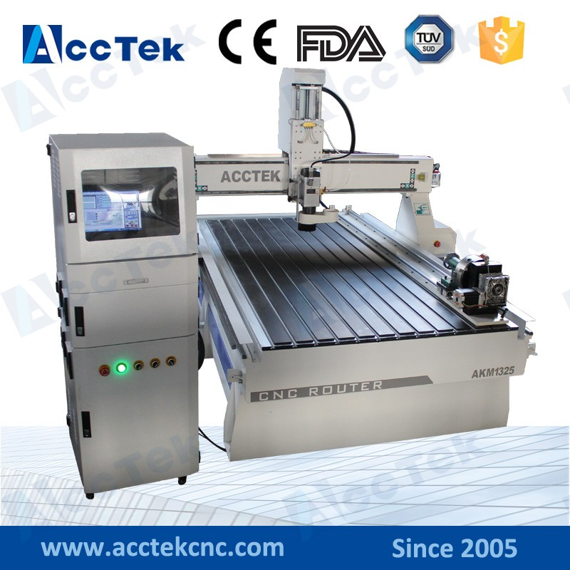 3d CNC machine à bois AKM1325 avec MACH3/MACH4 contrôleur tour bois machine - 3