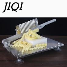 JIQI пищевая овощерезка волнистая машина для картофеля из нержавеющей стали, машина для резки французских лент, волнистый овощерезочный инструмент для резки