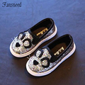 2017Spring new girls single shoes boys cartoon cat casual shoes children 's baby shoes student shoes tide
