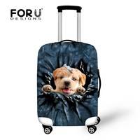 New Designer 3D Cat Print Luggage Cover For 18 22 24 26 28 30 Inch Suitcase