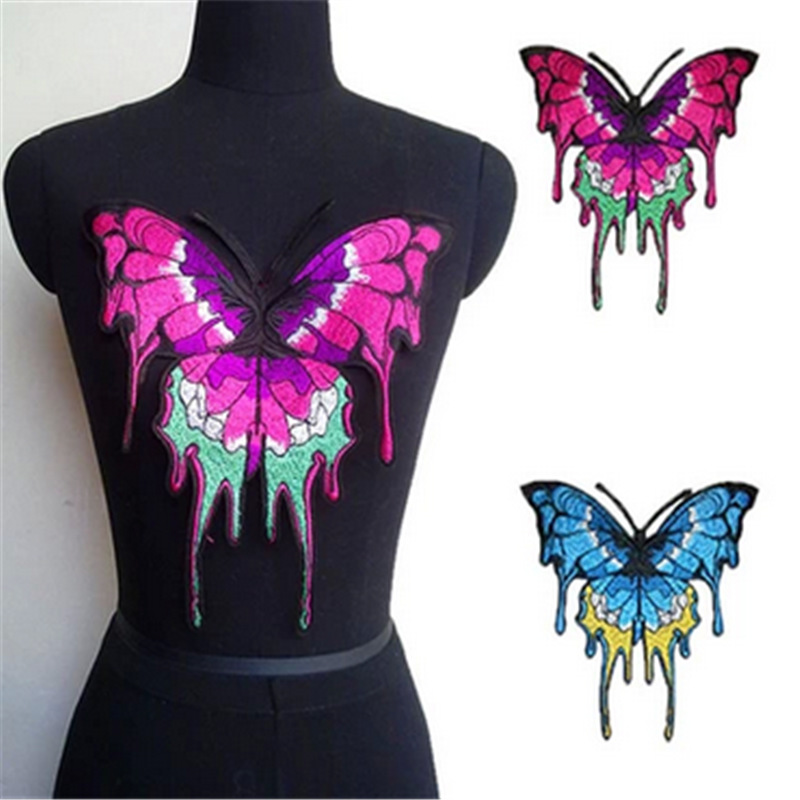 Embroidery big butterfly sew on patch appliques