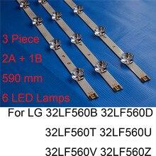 цены Brand New LED Backlight Strip For LG 32LF560B 32LF560D 32LF560T 32LF560U 32LF560V 32LF560Z TV Repair LED Backlight Strips Bars