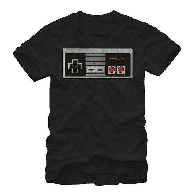 Hombre barato Camiseta Nintendo Controller Mens Camiseta Gráfica
