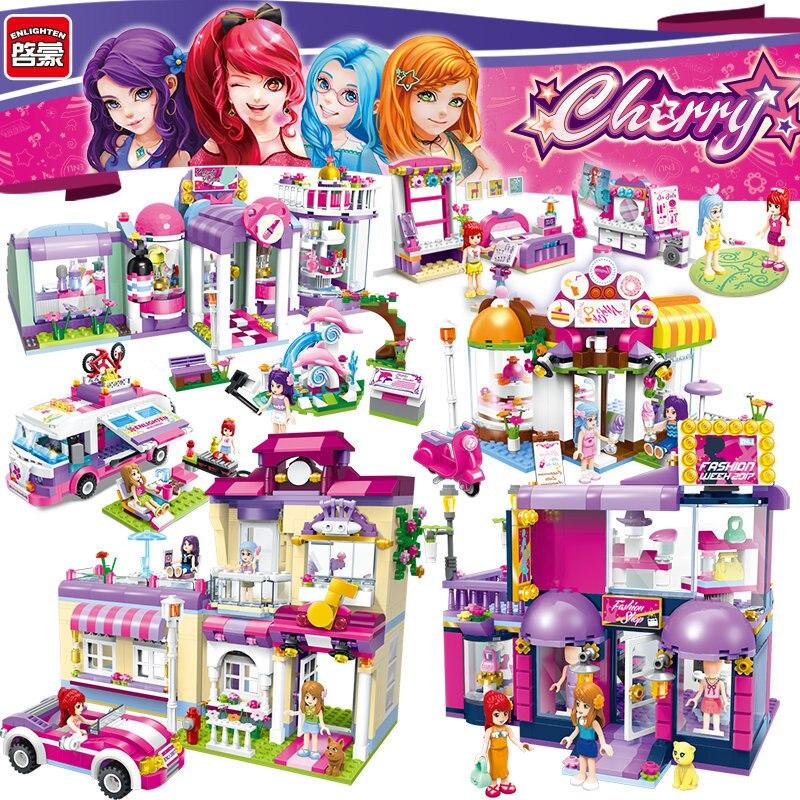 Angemessen Erleuchten Mädchen Pädagogische Bausteine Spielzeug Für Kinder Weihnachten Geschenke Stadt Freunde Auto Moana Mode Kompatibel E Attraktives Aussehen