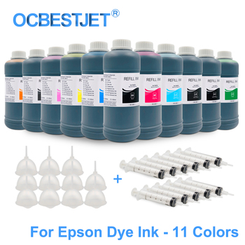 11x500ML Universal Dye Ink Refill Ink Kit For Epson Stylus Pro 7900 9900 7910 9910 4900 4910 SureColor P6000 P7000 P8000 P9000